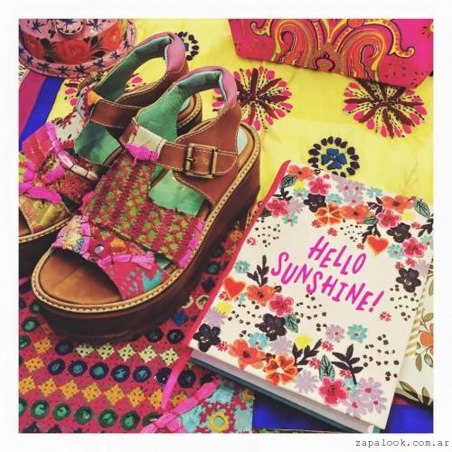 sandalias bordadas primavera verano 2016 - Las Motas