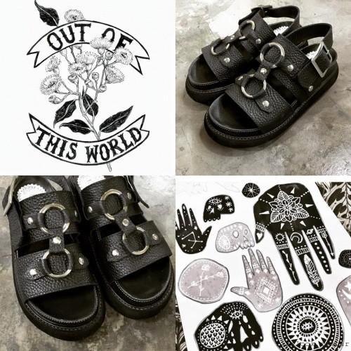 sandalias negras primavera verano 2016 - Las Motas