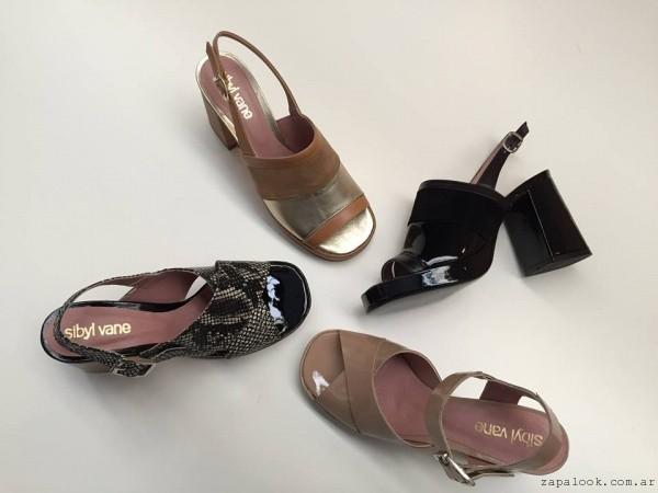 sandalias taco bajo Sibyl Vane verano 2016