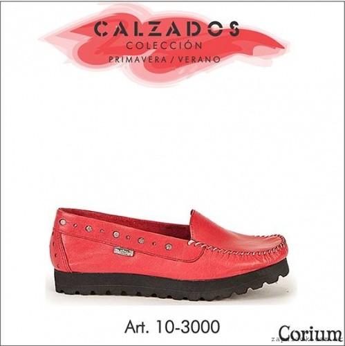 CORIUM - mocasines rojos con plataforma verano 2016