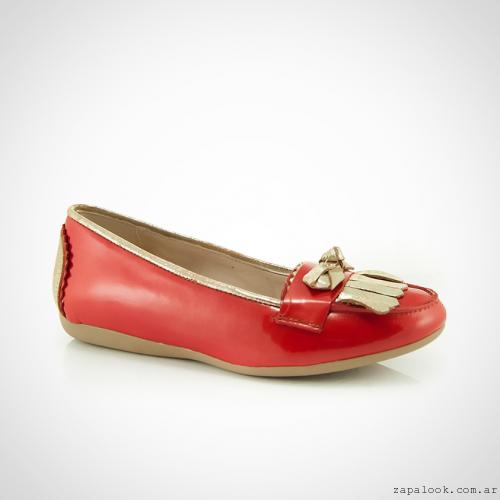 Calzados La Leopolda verano 2016 -  mocasines mujer rojos y dorados