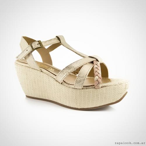 Calzados La Leopolda verano 2016 - sandalias plataforma doradas