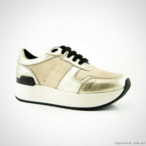 Calzados La Leopolda verano 2016 - zapatillas doradas