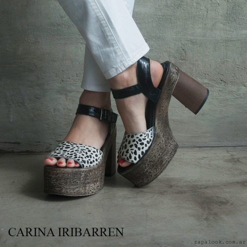 Carina Iribarren - sandalias altas animal print verano 2016