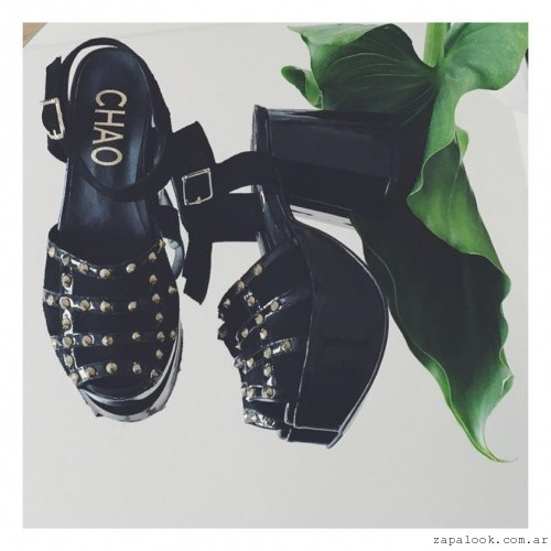 Chao Shoes - sandalias negras con tachas verano 2016