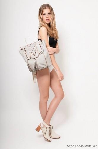 KATAKALI - mochila de cuero beige verano 2016