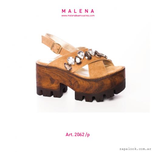 Malena verano 2016 - sandalias con plataforma simil madera