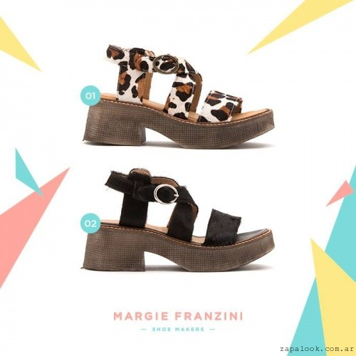 Margie Franzini Shoes - sandalias verano 2016 - pelo o animal print