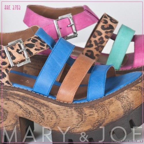 Mary and Joe Sandalias azules y animal print juveniles con plataformas verano 2016