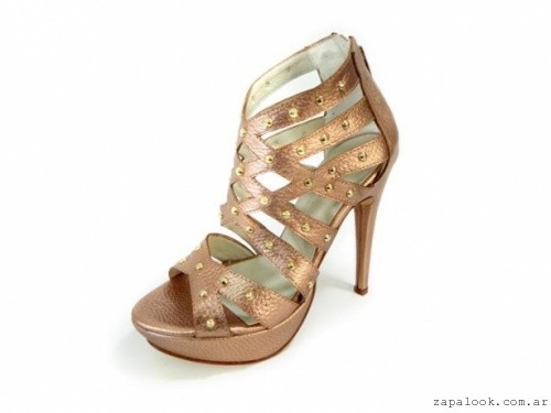 PALOMA CRUZ - sandalias de noche bronce verano 2016
