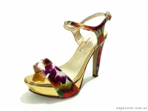 PALOMA CRUZ - sandalias de noche estampada floral verano 2016