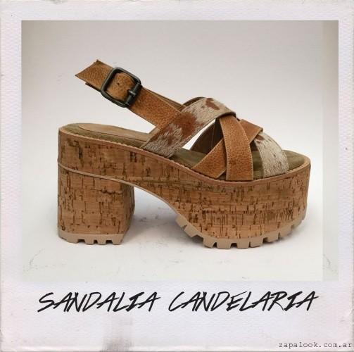 Perugia - Sandalias marron taco altos verano 2016