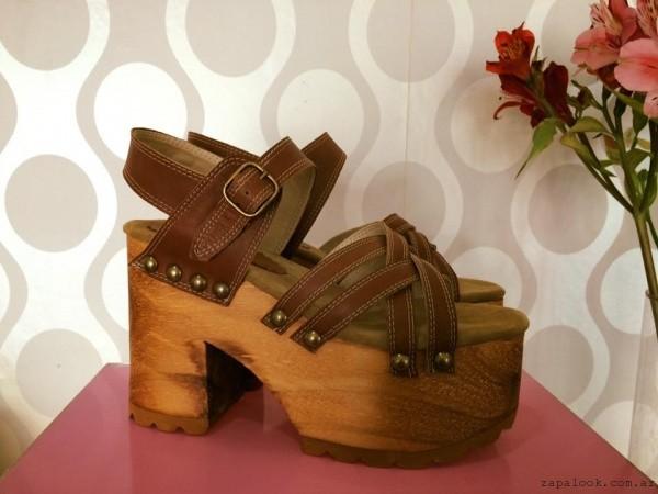 Sandalias con plataforma simil madera - Gemmes verano 2016