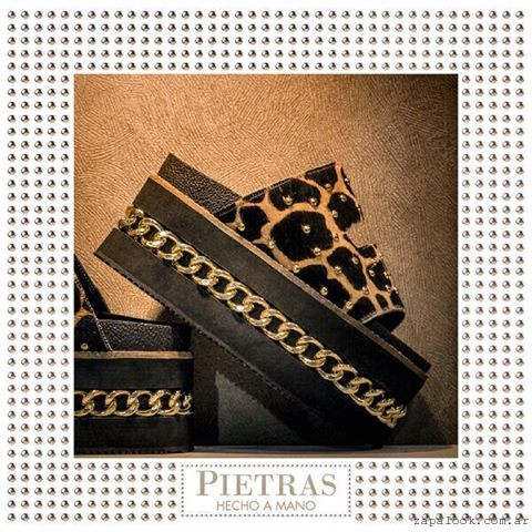 Calzados Pietras - sandalias animal print con plataforma verano 2016