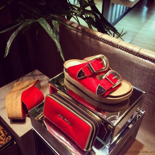 Calzados Pietras - sandalias rojas verano 2016