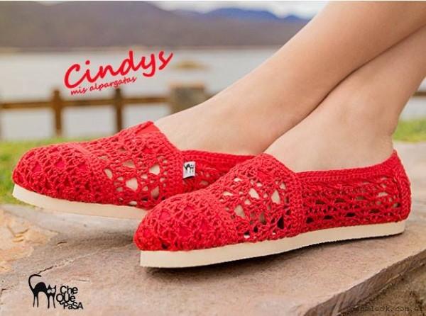CheQUéPaSA , alpargatas tejidas a crochet verano 2016