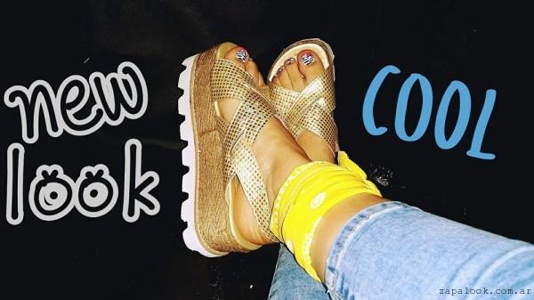Sandalias doradas - Micaela - Pasos que enamoran verano 2016