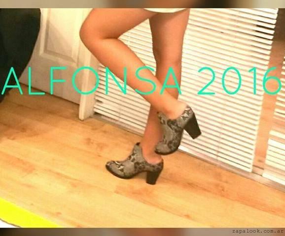 Alfonsa Bs As - botinetas reptil invierno 2016