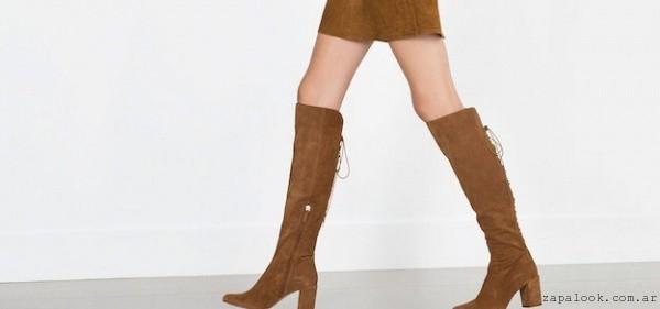 Botas con cordones atras Zara invierno 2016