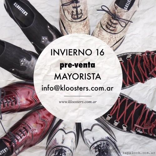 Klooster's - anticipo zapatos acordonados invierno 2016