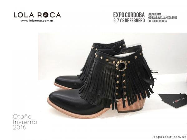 Lola Roca - Botinetas con flecos invierno 2016