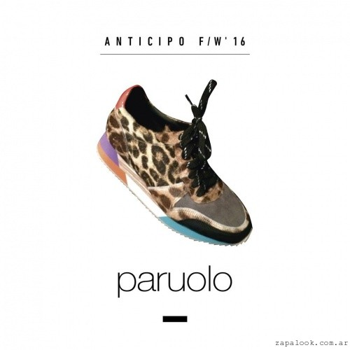 zapatillas animal print otoño invierno 2016 by Paruolo