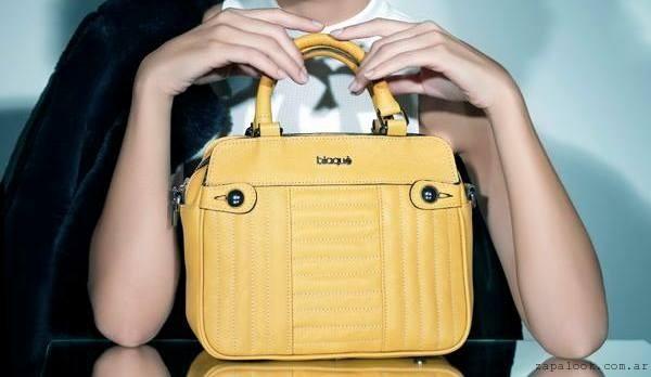 Blaque - cartera amarilla de moda invierno 2016