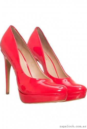 Zapatos rojos de charol - Via uno invierno 2016