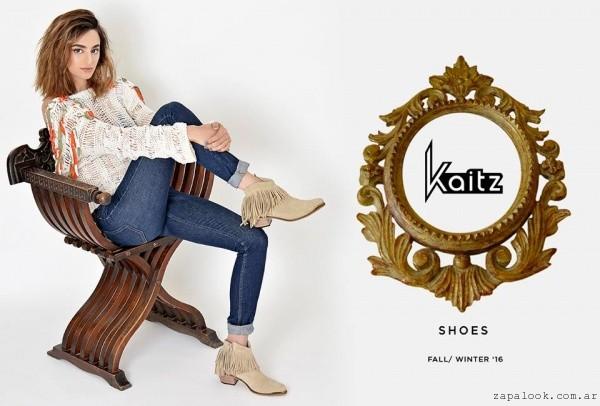 botintas con flecos invierno 2015 Kaitz
