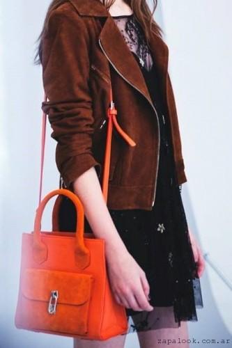 cartera naranja uma invierno 2016