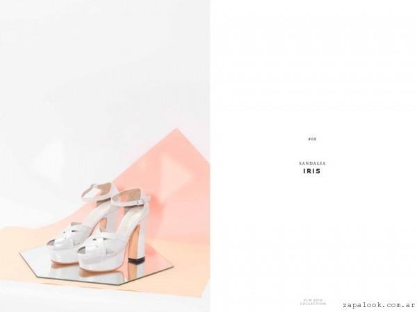 sandalias blancas para novias invierno 2016 - LOMM