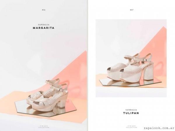 zapatos crema para novias invierno 2016 - LOMM