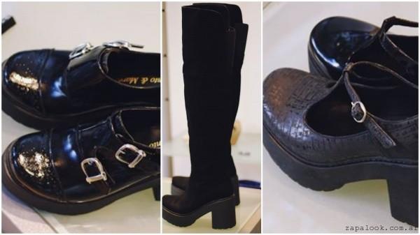 zapatos en negro invierno 2016
