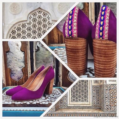 zapatos purpura  invierno 2016 Marignan en tus pies