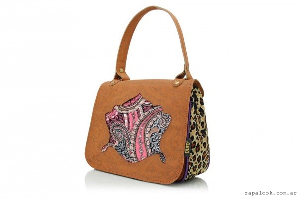 Cartera Puro invierno 2016 - animal print y gamuza