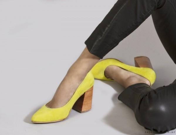 Stilettos amarillos Ricky - Calzado Alfonsa otoño invierno 2016