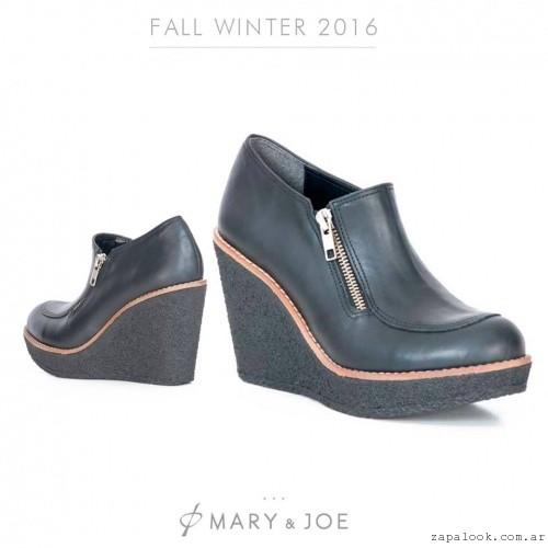 Zapato con cierre y taco chino  invierno 2016 - Mary and Joe
