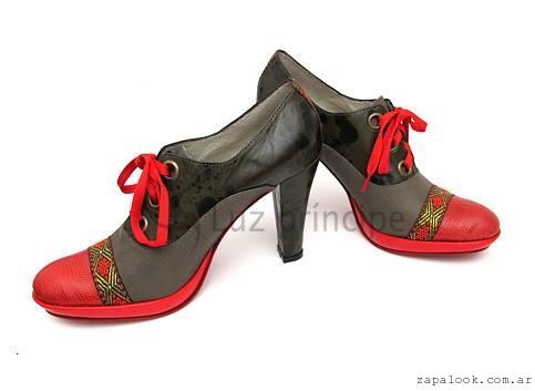 Zapatos altos acordonados  invierno 2016 Luz Principe