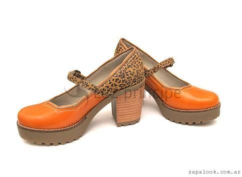 Zapatos punta redonda altos  invierno 2016 Luz Principe