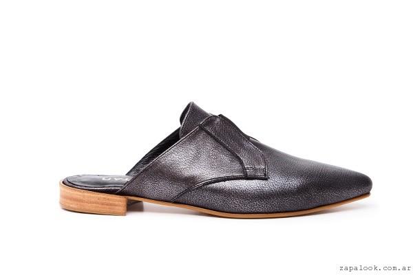 Zueco Negro planto invierno 2016 - calzados Natacha
