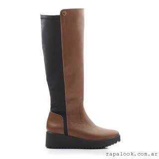 bota de montar tonos marrones - Ferraro calzados invierno 2016