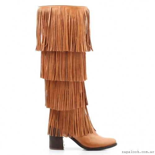 botas bucaneras con flecos - Ferraro calzados invierno 2016