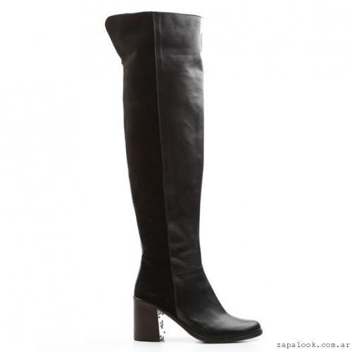 botas bucaneras negra - Ferraro calzados invierno 2016