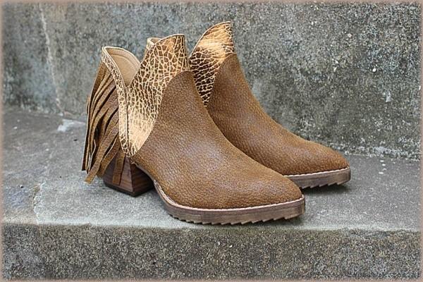 botineta marron texana invierno 2016 - TOPS calzados