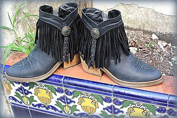 botinetas Texanas con flecos invierno 2016 - TOPS calzados