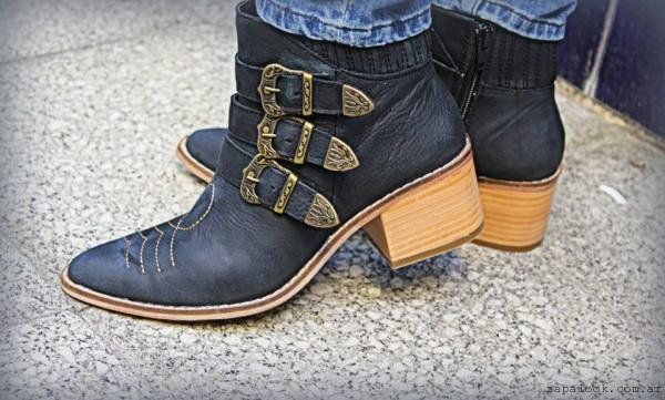 botinetas Texanas negras invierno 2016 - TOPS calzados