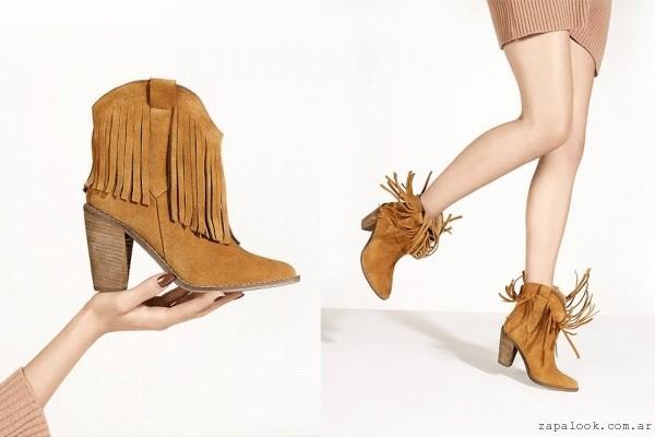 botinetas gamuzadas con flecos - calzados Lucerna otoño invierno 2016
