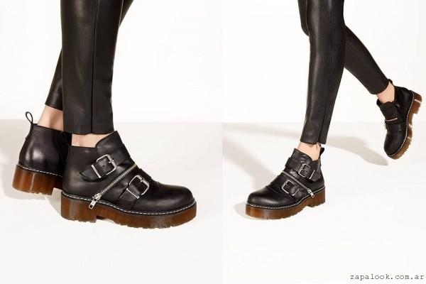 botinetas negras con cierre - calzados Lucerna otoño invierno 2016