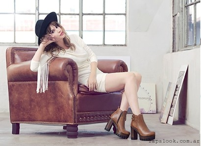 botinetas taco alto  invierno 2016 - Lady Stork