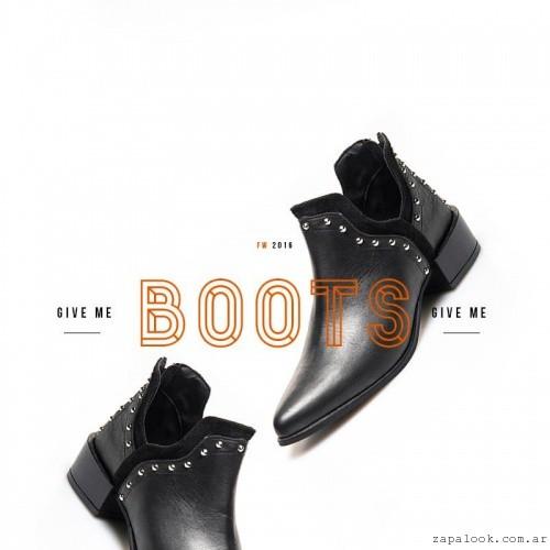 botitas de cuero invierno 2016 - Margie Franzini Shoes